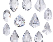 12pcs Clear Jewelry Crystals Pendants Chandelier Hanging Drops Prisms Glass Suncatcher Parts Hanging Ornaments for Home,Office,Garden Decor