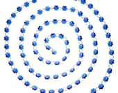 Pack of 1 6 Feets Blue Crystal Snowflake Beads Chain for Crystal Chandelier Wedding Home DIY Decor HD140306DE-4