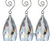 5PCS Clear Crystals Hanging Drops Pendants Chandelier Lamp Prisms Parts 75mm