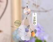 10PCS Clear 50mm Lily Suncatcher Hanging Glass Crystal Chandelier Part 14mm Octagonal Bead Pendant Prism for Wedding Decor DE1509201 10