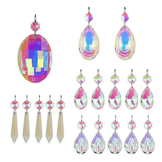 1 Chandelier Rainbow Maker Glass Crystal Lamp Prisms Hanging Drops Pendants 3/'/'
