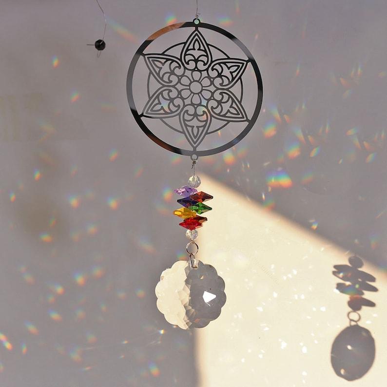 Handmade Crystal Rainbow Chakra Suncatcher Ball Prisms Window Hanging Decor Gift