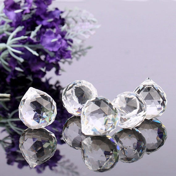 5PCS Crystal Ball Prism Lighting Pendant Parts Glass Lamp Chandelier