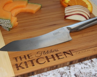 """Personalized Bamboo Cutting Board - 11""""x14"""" - 11 Designs Available"""