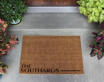 Personalized Door Mat | Custom Doormat, Housewarming Gift, Welcome Door Mat, Outdoor Decor, Wedding Gift, Floor Mat, Patio Decor, Gift Idea