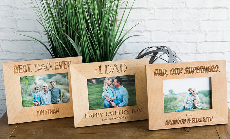 Father/'s Day Father/'s Day Gift Laser Engraved Photo Frame Happy Father/'s Day Father/'s Day Picture Frame, Father/'s Day Frame