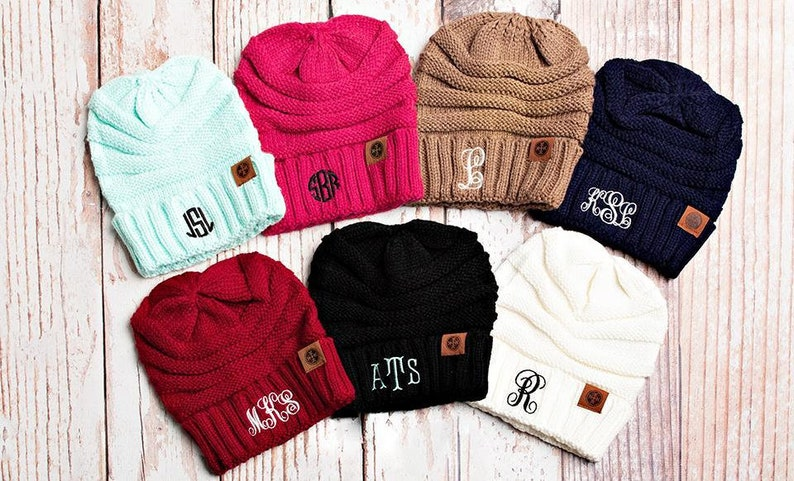 df7ed996c743b Adult Personalized Beanie Hats