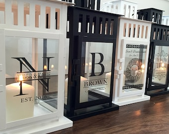 Personalized Lanterns - Customized Lanterns - Custom Lanterns - 2 Colors Available - 8 Designs To Choose
