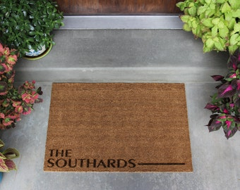 Personalized Door Mat - Custom Floor Mat - Customized Doormat - Welcome Mat - 3 Different Styles - 2 Sizes Available