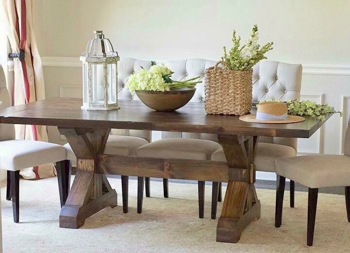 Solid Wood Handmade X Base Trestle, X Base Dining Room Table