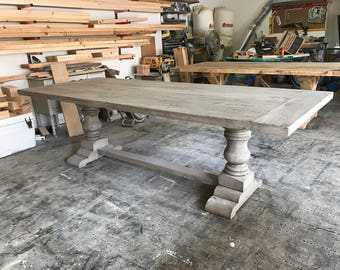 Examples of Tables Finished in Salvaged Gray