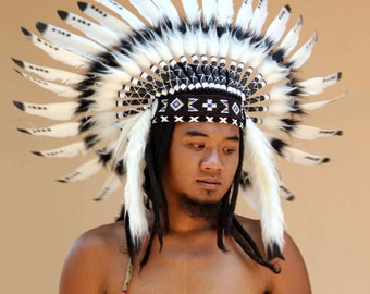2bac317c731 ON SALE indian headdress replica