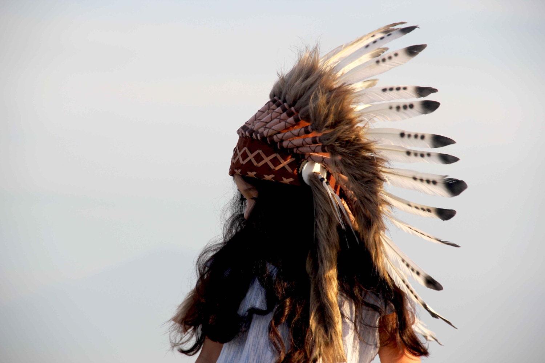 Penacho indio infantil tocado indio infantil penacho para   Etsy