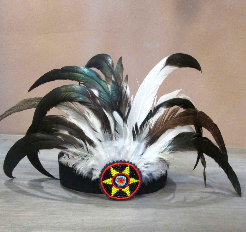 Diadema India Balagan diadema de plumas tocado de plumas   Etsy