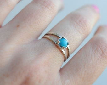Turquoise ring. Genuine turquoise sterling silver ring. Adjustable Turquoise Ring Sterling Silver. Fits many sizes. Girlfriend gift.