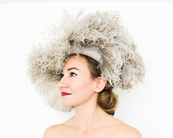 SOLD  Do Not Buy....40s Beige Feather Hat  8992fc82db1f