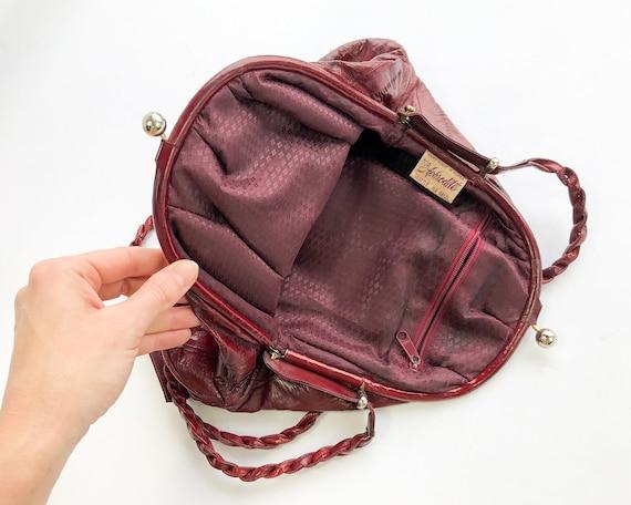 1980s Brown Eel Skin Leather Shoulder Bag   80s M… - image 4