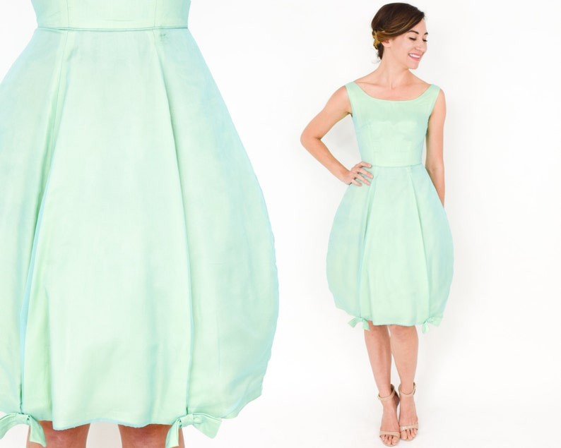 efa8334ce521 50s Green Party Dress Bubble Dress Mint Green Cocktail
