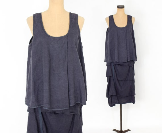 1990s Purple Linen Skirt & Blouse Set   90s Purple