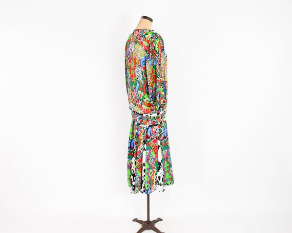 1980s Colorful Diane Freis Blouse & Skirt | 80s O… - image 10