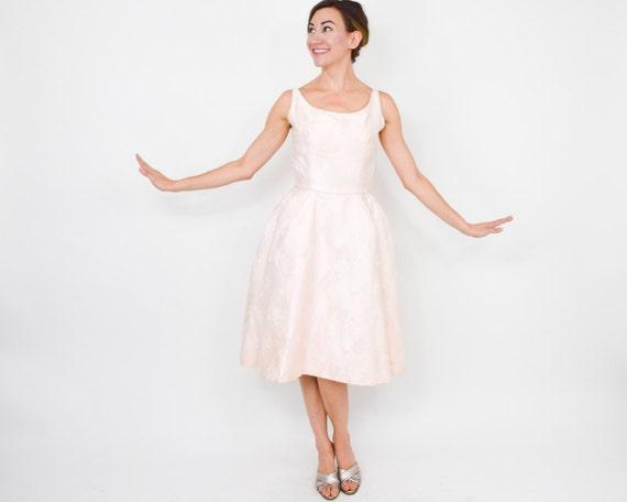 1950s Pink Brocade Party Dress | 50s Pink Brocade… - image 5