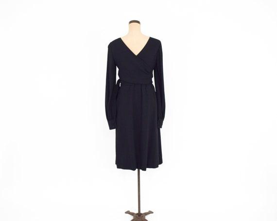 1960s Black Crepe Evening Dress | 60s Black Crepe… - image 7