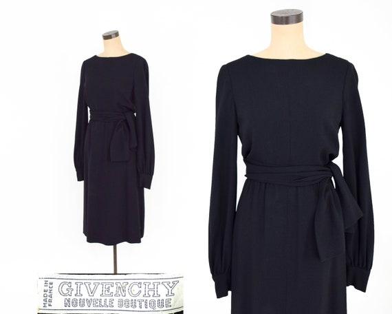 1960s Black Givenchy Dress | 60s Designer Cocktail