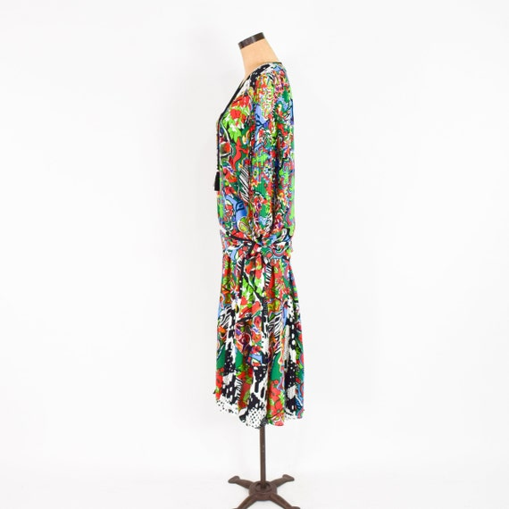 1980s Colorful Diane Freis Blouse & Skirt | 80s O… - image 7