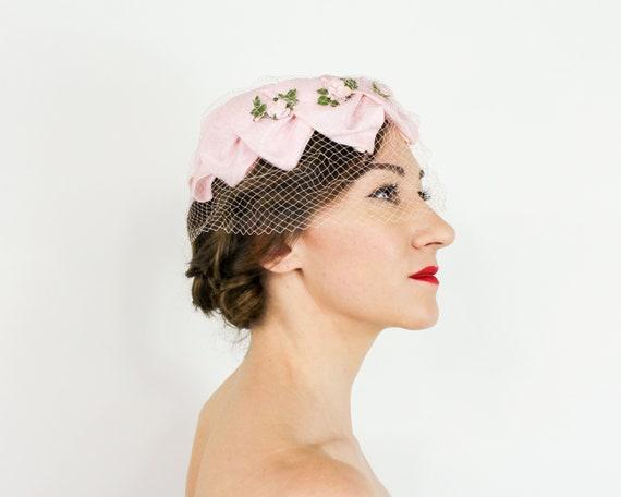 1950s Pink Petal Fascinator   50s Pink Ring Hat - image 2