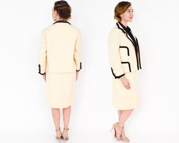 Lilli Ann | 1960s White & Black Wool Suit | 60s C… - image 5