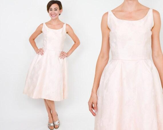 1950s Pink Brocade Party Dress | 50s Pink Brocade… - image 2