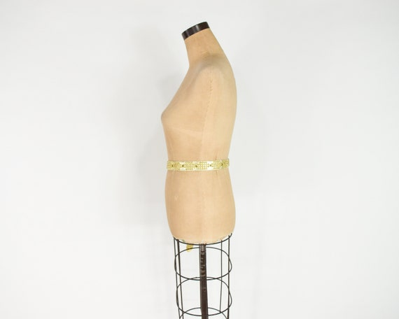 1980s Riveted Gold Leather Belt   80s Gold Leathe… - image 8
