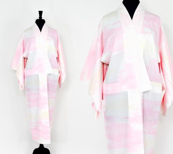 Pink & White Print Kimono | Pink Summer Kimono