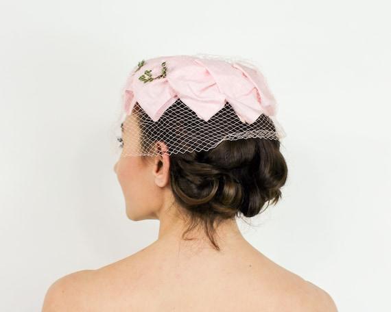 1950s Pink Petal Fascinator   50s Pink Ring Hat - image 5