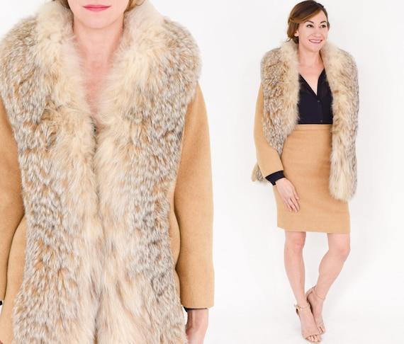 1960s Lilli Ann Camel Wool Suit | 60s Camel Fox Fu