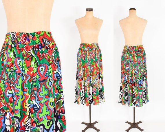 1980s Colorful Diane Freis Blouse & Skirt | 80s O… - image 5