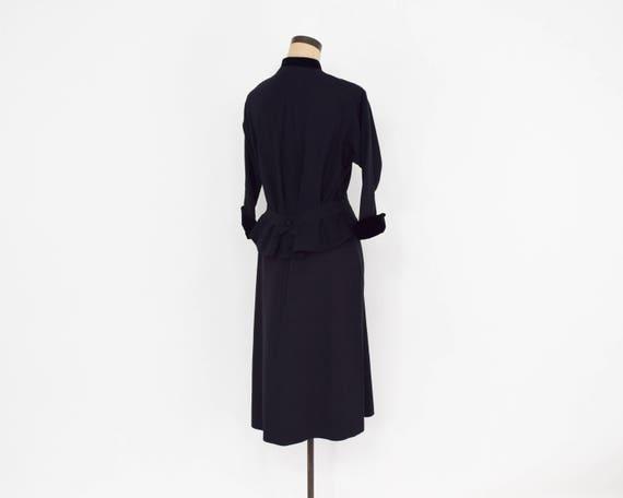 1940s Black Faille Suit | 40s Black Faille & Velv… - image 6