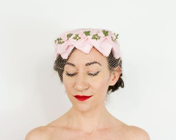 1950s Pink Petal Fascinator   50s Pink Ring Hat - image 6