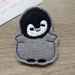 Young Penguin Chick Grey Black Paper Planner Journal Diary Clip Paperclip