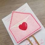 Love Letter Heart Envelope Valentine Paper Clip