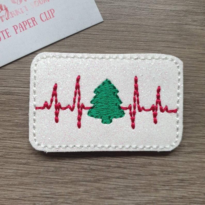 Christmas Tree Heartbeat ECG Festive Paper Planner Journal image 0