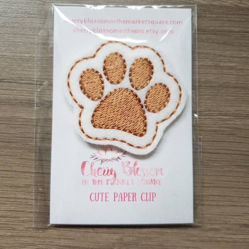 Pet Paw Brown and White Paper Planner Journal Diary Clip image 0