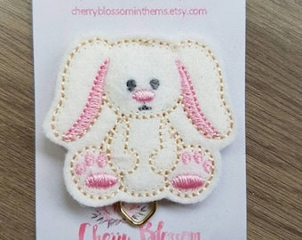 Easter Bunny Stitched Stitches Teddy Paper Clip