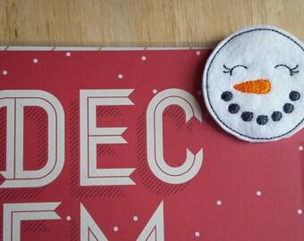 Snowman Christmas Paper Clip