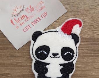 Santa Panda Paper Clip