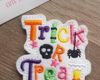 Trick or Treat Word Halloween Cute Kawaii Paper Clip