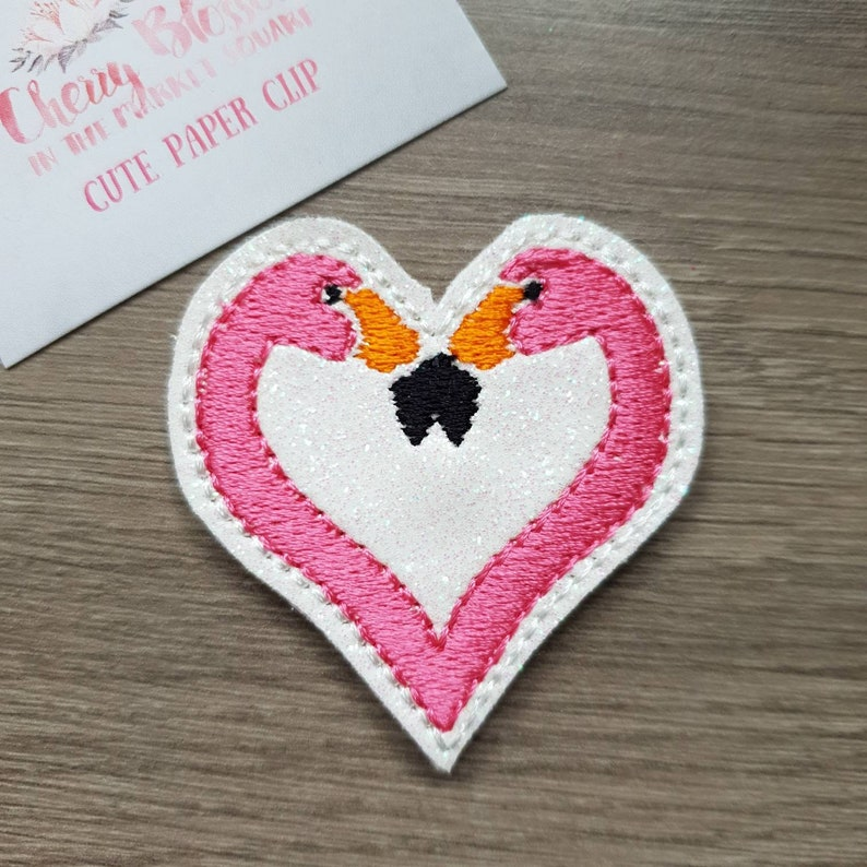 Flamingos Head Heart Summer Paper Planner Journal Diary Clip image 0