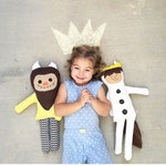 Where the Wild Things Are, Max and his Wild Thing, monster doll, max doll, boy dolls, plush dolls, plushies, handmade dolls, wolf suit
