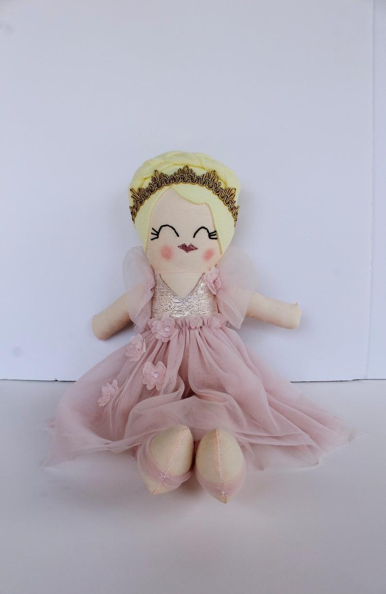 doll ballerina handmade cloth ZARA fabric doll rag doll image 0