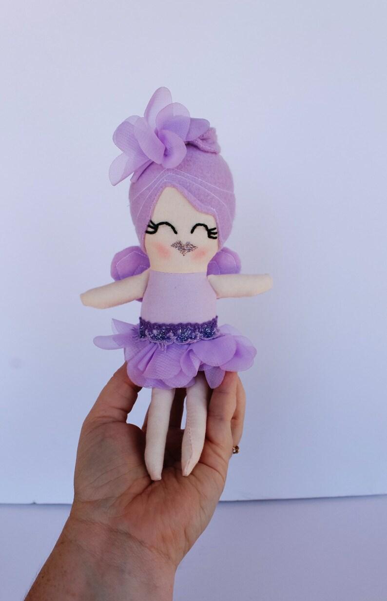 fairy doll handmade doll LILAC cloth doll rag doll fabric image 0